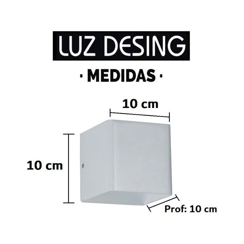 Aplique Difusor Pared Luz Led 3w Aluminio Deco Moderno Tz