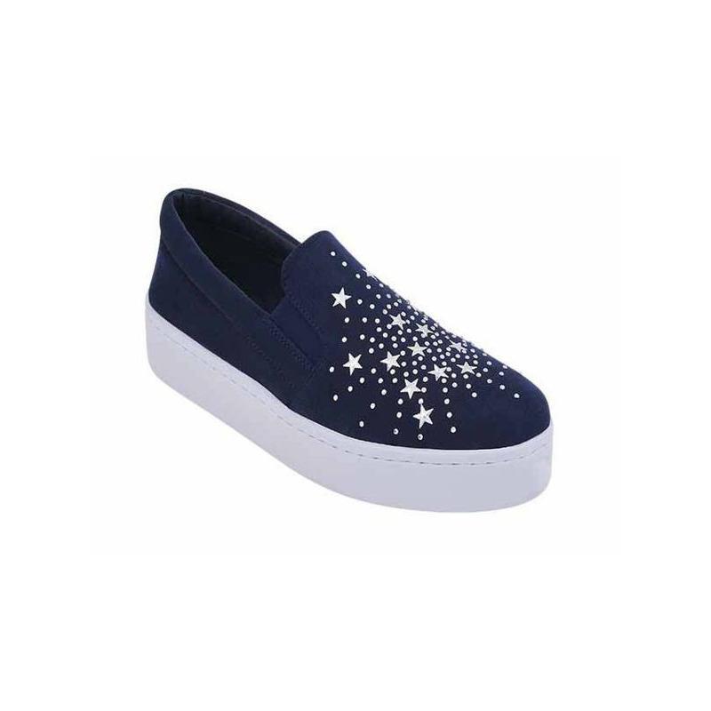 Sneakers marino con brillos 017498