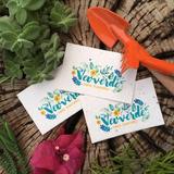 200 Tarjetas Personales Papel Plantable Reciclado 9x5