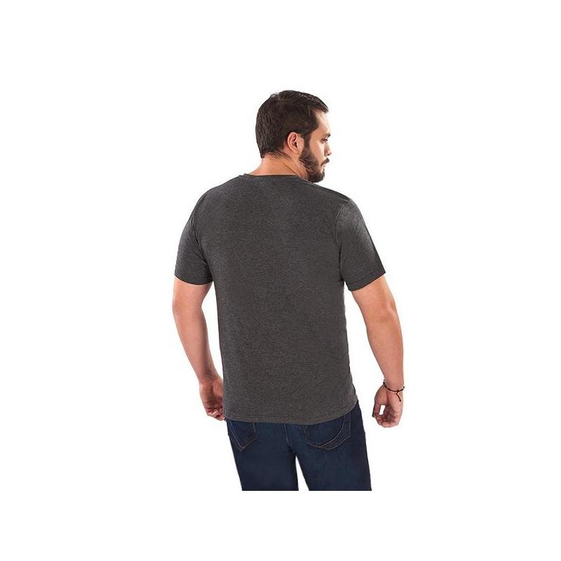 Camisa gris manga corta con bolsa 014625P