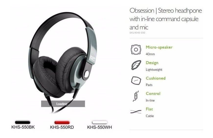 Auriculares Klip Xtreme Obsession - Con Microfono