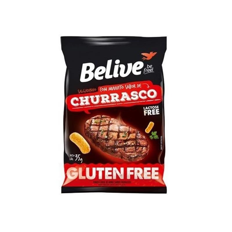 Snack de Arroz Sem Gluten Churrasco - 35g - Belive Be Free