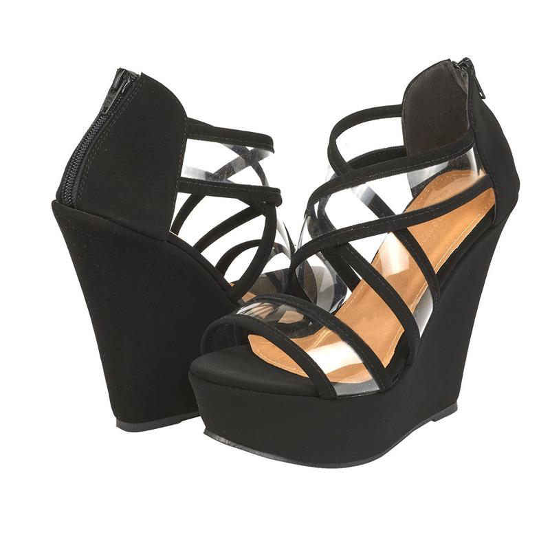 Sandalia plataforma negra 016252