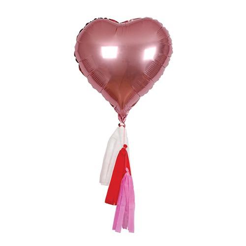 Globo corazón con flecos