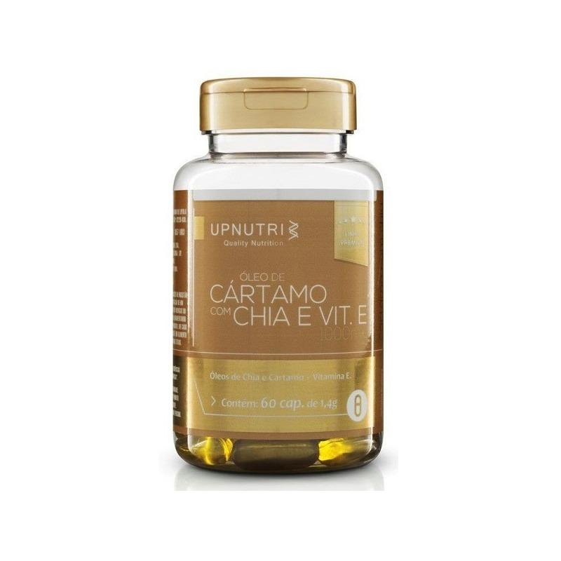 Oleo de Cartamo e Oleo de Chia - 60 Caps. 1000mg - Upnutri