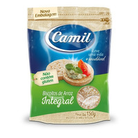 Mini Biscoitos de Arroz Integral 150g - Camil