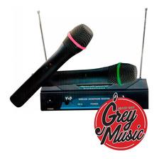 Micrófono Inalámbrico Acústica Vhf Vh202m Doble Mano