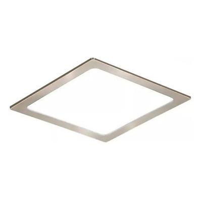 Plafon Embutir Led 24w Acero Cuadrado Panel Luz Desing