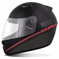 Capacete Ebf New Spark Black Edition Preto Fosco Vermelho