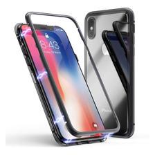 Funda Magnetica Metalica iPhone 7 8 Plus Xs Max Xr + Envio