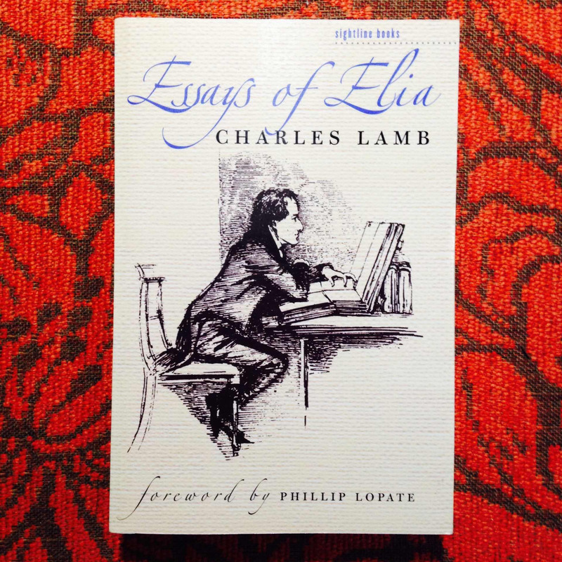 Charles Lamb.  ESSAYS OF ELIA.