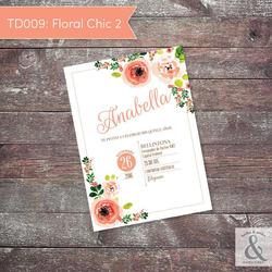 Invitación digital TD009 (Flor...