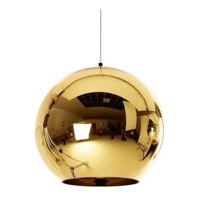 Colgante 3 Luces Tom Globo Oro Vidrio Tendencia Moderno Cuo
