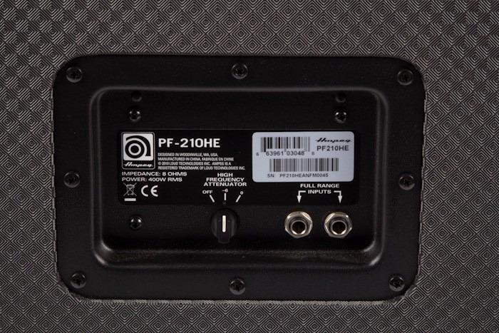 Caja/ Bafle Para Bajo 2x10 Ampeg Portaflex Pf 210 He 450w