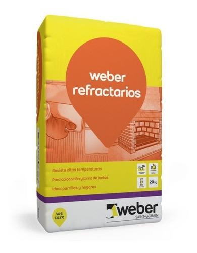Pegamento Weber Tec Refractario X 20kg Parrillas Hogares