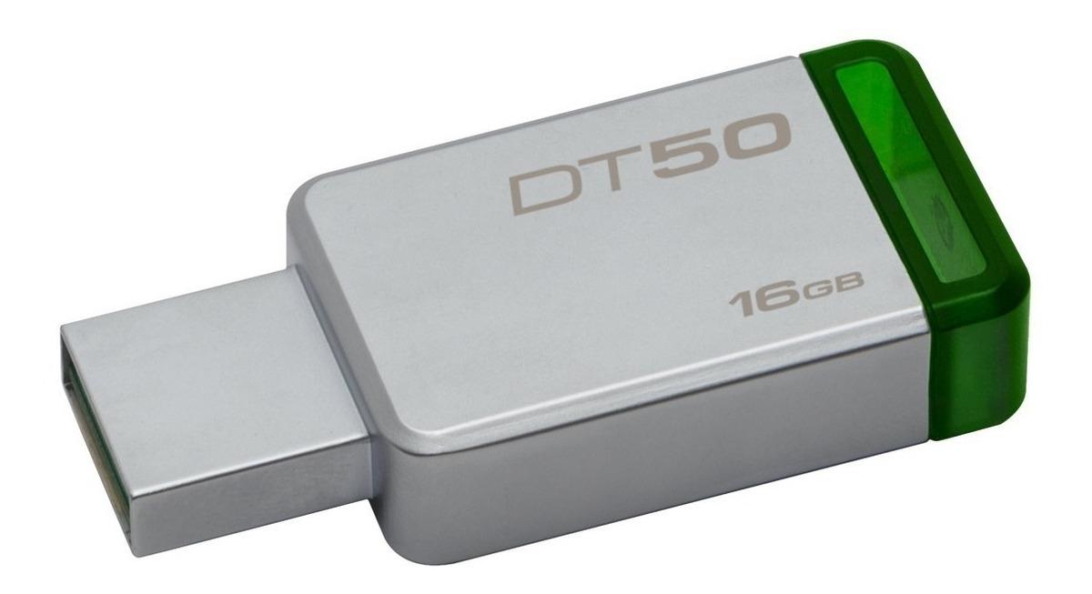 Pendrive Kingston Dt50 16gb Usb 3.1 3.0 Metal Original Gtia