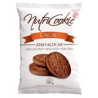 NutriCookie de Cacau Zero Acucar Sem Gluten 120g NutriPleno