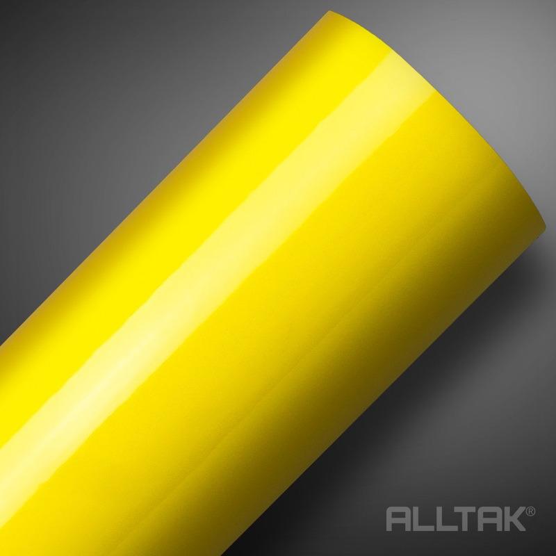 Adesivo brilho ultra para envelopamento automotivo amarelo banana yellow larg. 1,38 m