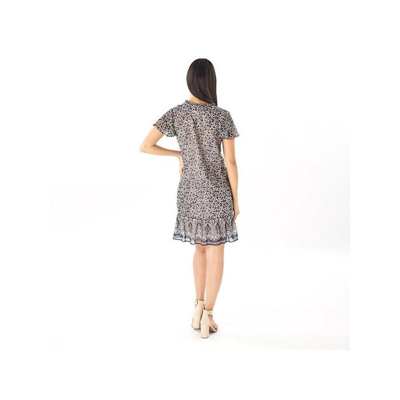 Vestido corto con olanes  019118