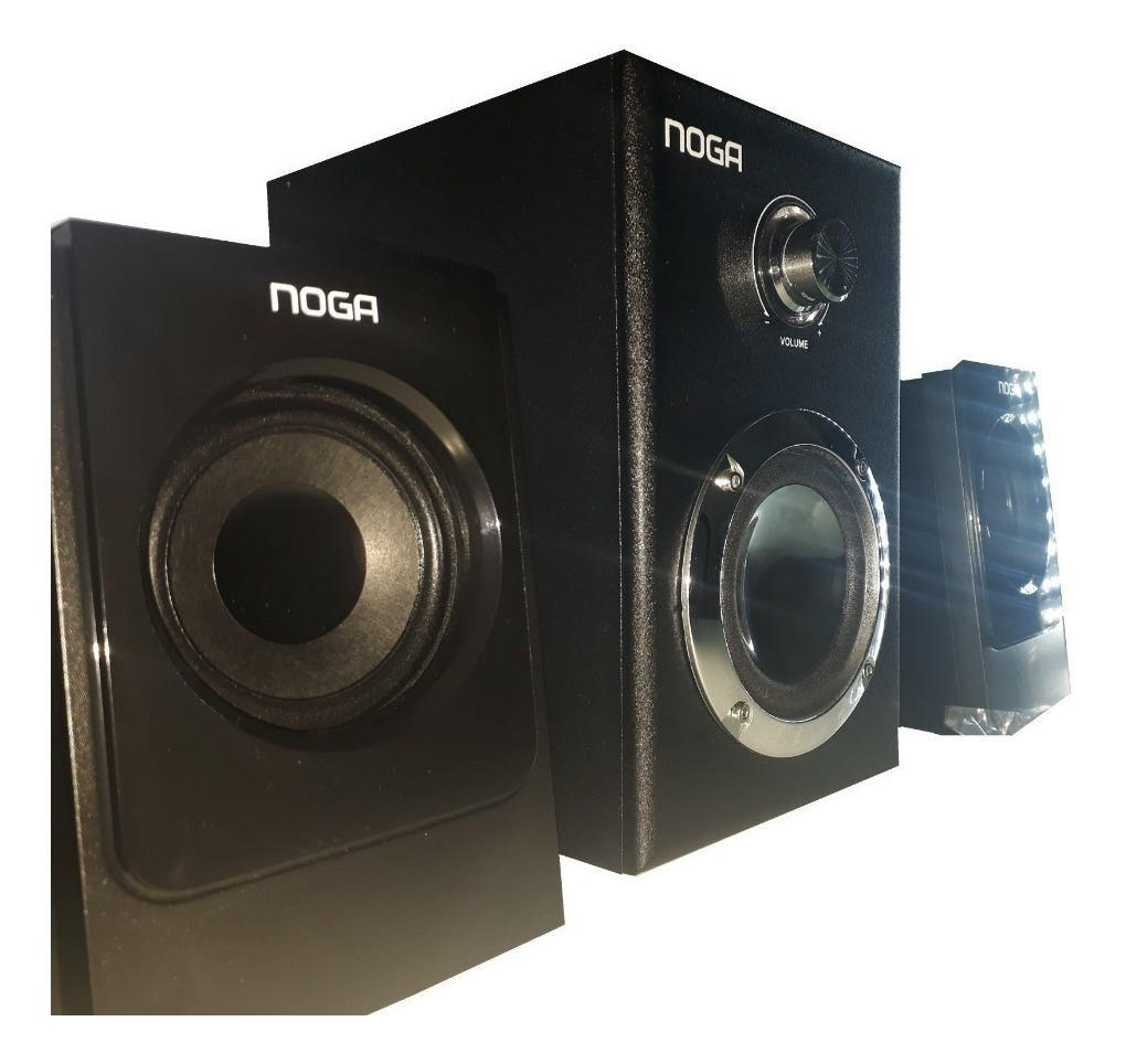 Parlantes Usb 2.1 E3009 Noganet Pc Notebook 15w Woofer