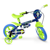 Bicicleta Infantil Aro 12 Nathor Space Masculino Azul/Verde