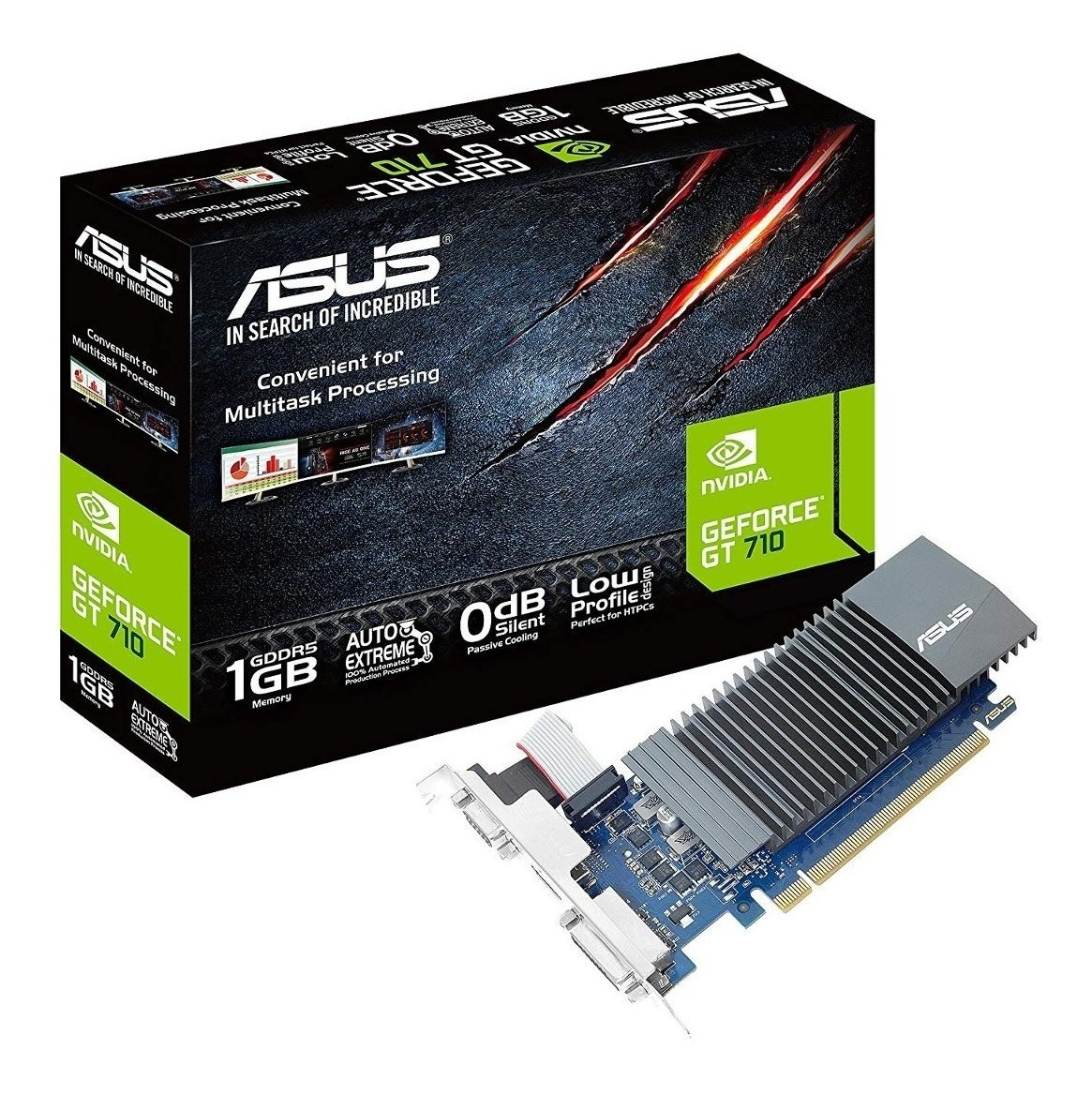 Placa De Video Grafica Geforce 1gb Gt 710 Gddr5 Pci-e Hdmi
