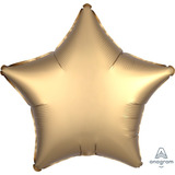 globo estrella dorada satin 45cm desinflado apto helio