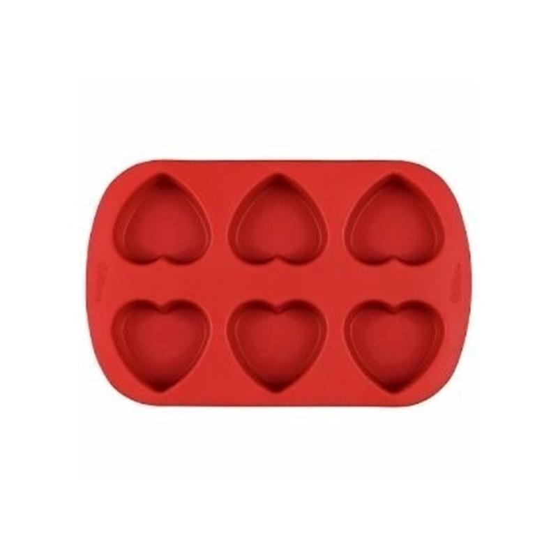 Formas de Silicone Coracao para Cupcake - Wincy