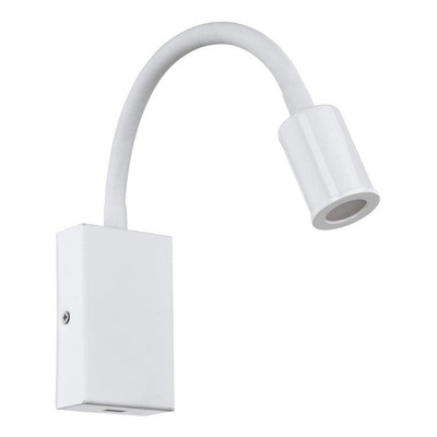 Aplique Pared Tazzoli Led 1 Luz Blanco Acero Moderno Eglo