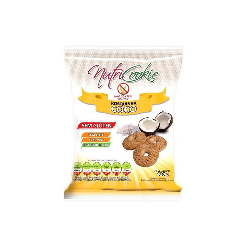 Rosquinhas NutriCookie de Coco Sem Gluten 120g - NutriPleno
