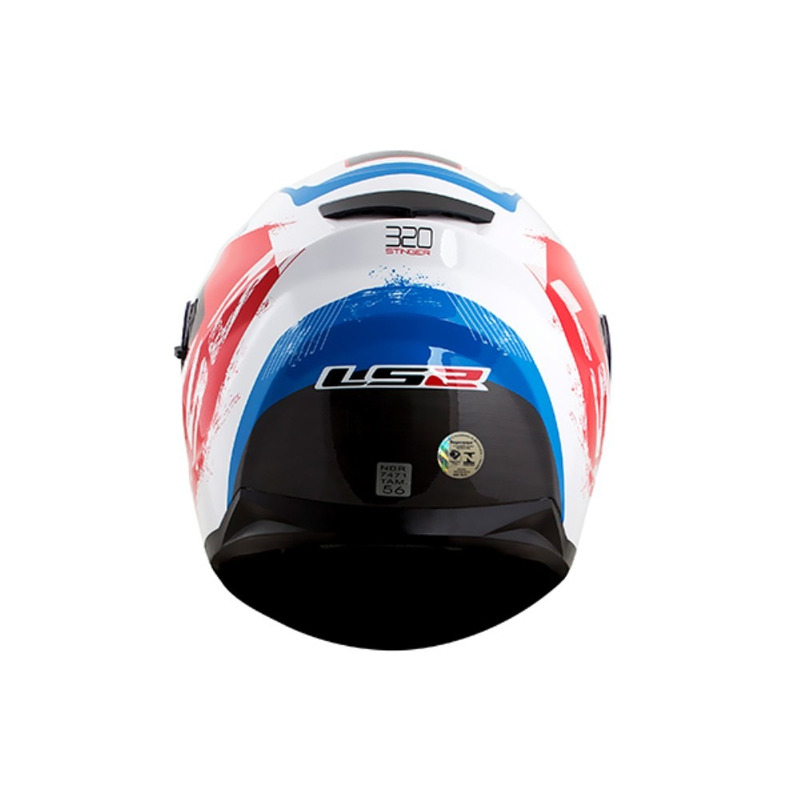 Capacete LS2 FF320 Stingers Branco Vermelho e Azul