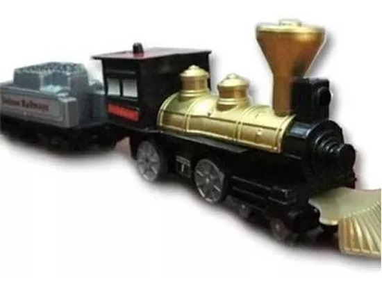 Tren De Epoca Con Vias Gran Recorrido Blister Para Regalar