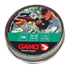 Balines Gamo Hunter 6.35 Mm X200 - Caza Aire Comprimido Co2