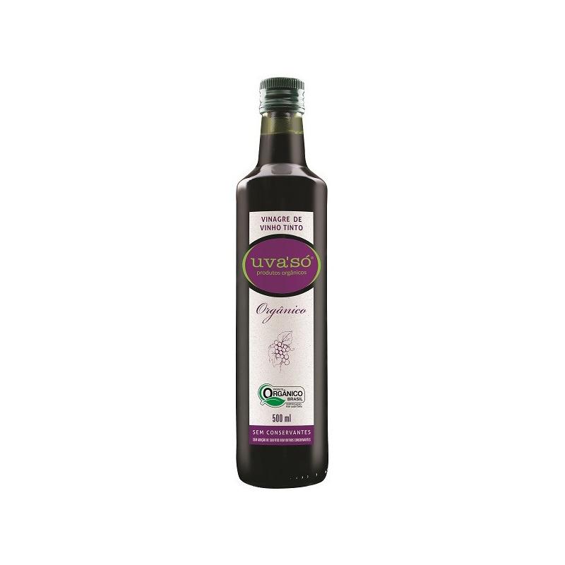 Vinagre de Vinho Tinto Organico - 500ml - Uva So