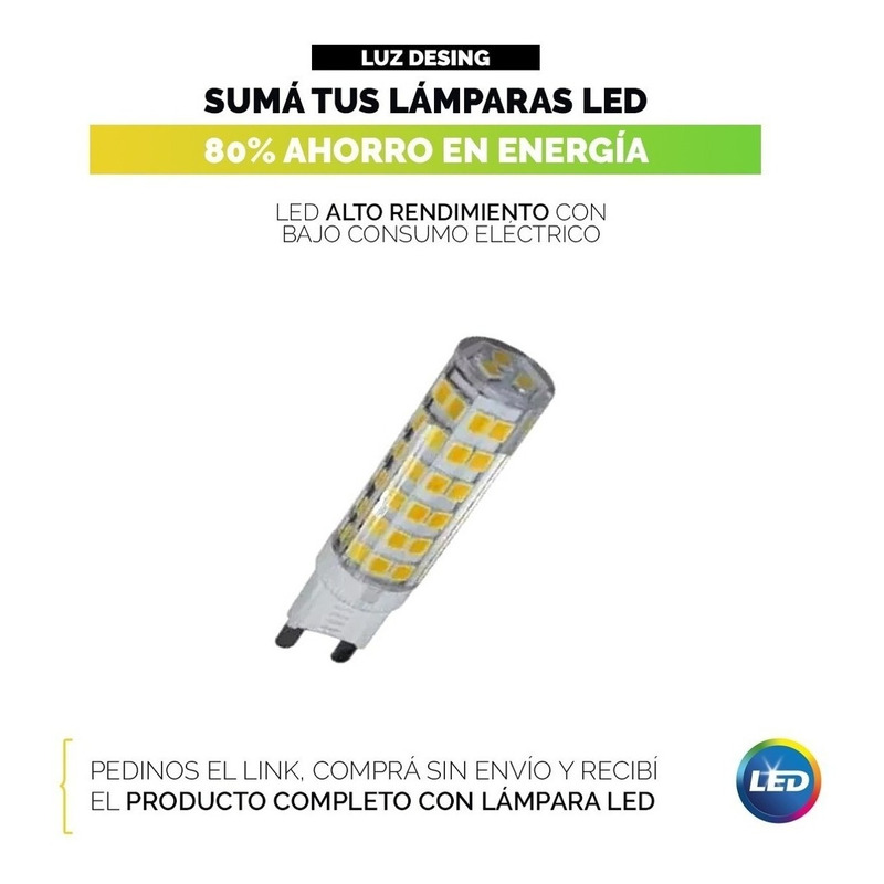 Aplique Multidireccional Interiores Apto Led Moderno Deco