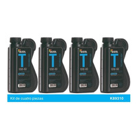 Aceite Sintetico Competencia/Motos Bizol SAE 10W60 Kit 4p de 1 Lt
