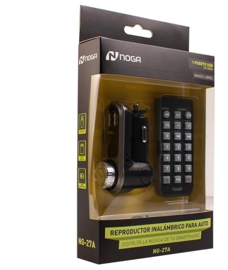 Transmisor Bluetooth De Audio Para Auto Manos Libres Ng-27a Ng-27 Noga