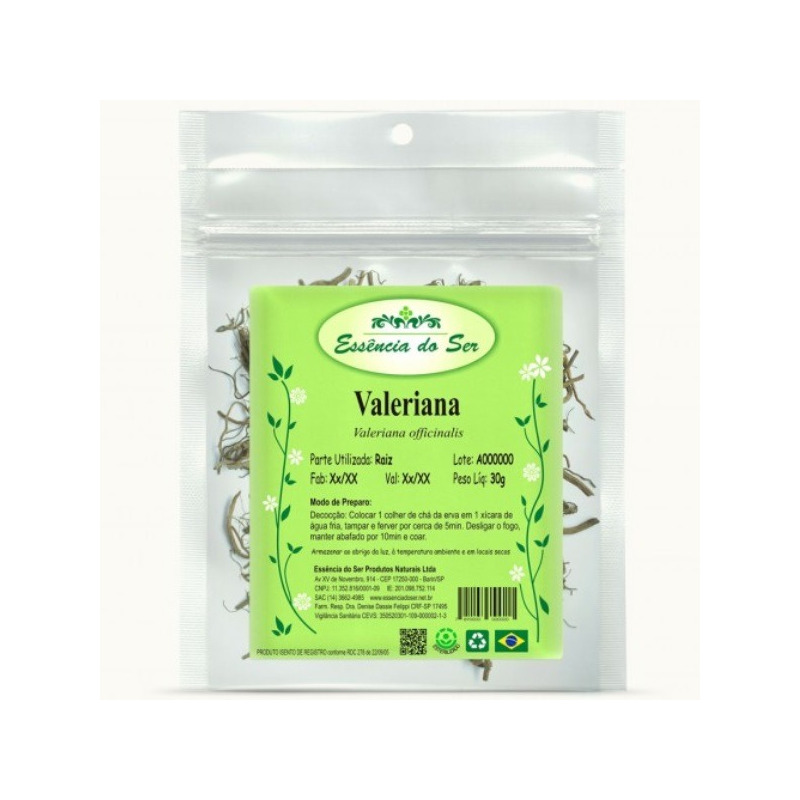 Cha de Valeriana - Kit 3 x 30g - Essencia do Ser