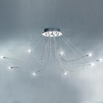 Lampara Moderna Araña Flexi 9 Luces Led Incluidas Luz Desing