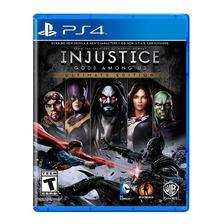 Injustice Ultimate Edition Ps4 Fisico Sellado Original Nuevo