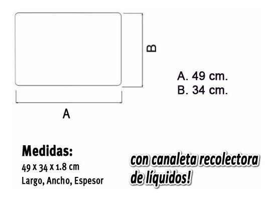 Tabla Plastica Inmensa Carol Picar Cortar 49x34x1 8 Gruesa