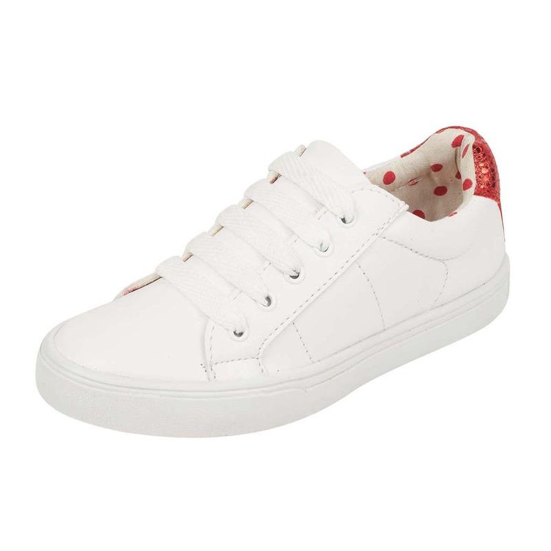 Sneakers blancos brillos rojos 018740