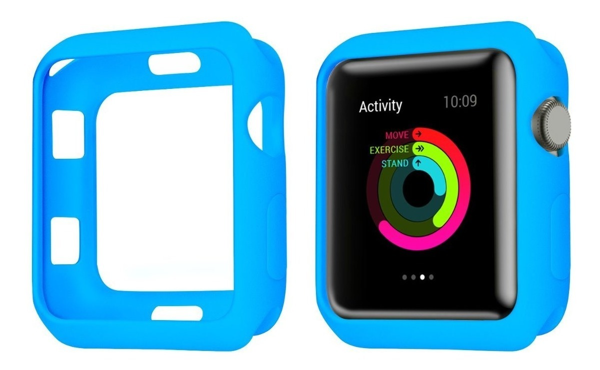 FUNDA IWATCH TPU 38MM CELESTE