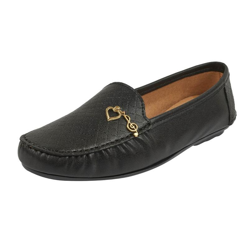 Zapatilla negra estampada 016642