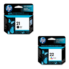 Combo Cartucho Hp 21+ Hp 22 Originales Negro+color