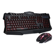Teclado Y Mouse Usb Gamer Retroiluminado 3 Colores Nkb-5320