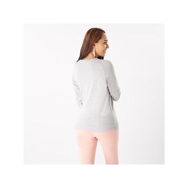 Sudadera gris estampada 014354P