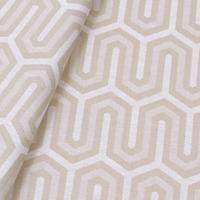 Tecido jacquard para almofada - bege/branco - Impermeável - Coleção Panamá