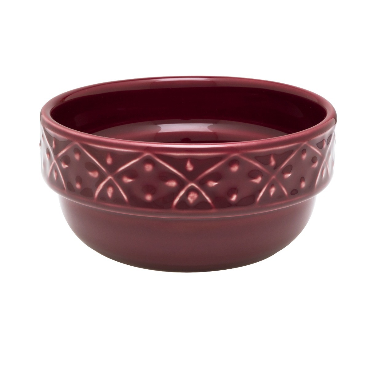 Bowl Compotera Cazuela Ceramica Oxford Corvina Bordo Relieve