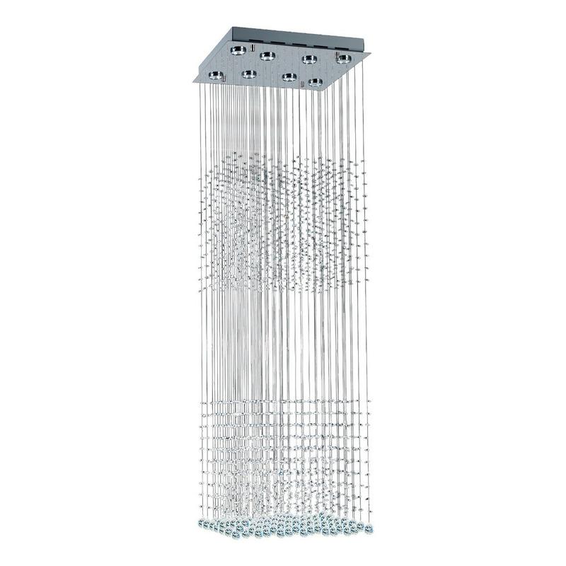 Colgante Mather Doble Cairel Deco Con 6 Led Gu10 Incluidas